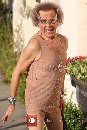 Richard Simmons poses outside his studio  Los Angeles, California - 02.08.12