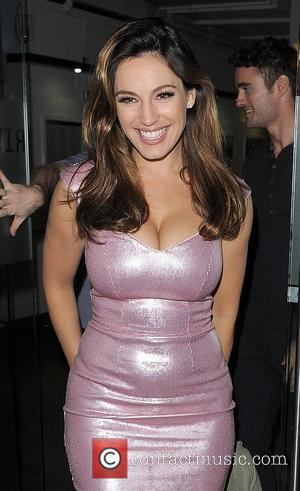 Kelly Brook leaving the Riverside Studios having filmed an episode of 'Celebrity Juice'. London, England - 29.08.12