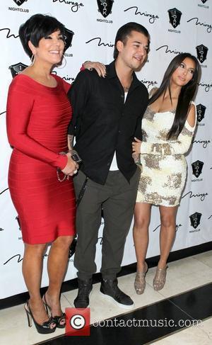 Kris Jenner, Kim Kardashian and Rob Kardashian