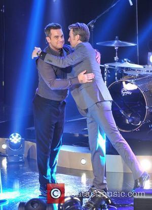 Robbie Williams and Fredrik Skavlan
