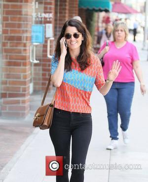 Actress Robin Tunney seen out and about in Beverly Hills chatting on her mobile phone. Los Angeles, California - 13.06.12