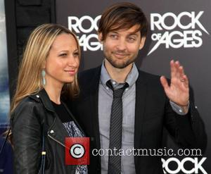 Jennifer Meyer, Tobey Maguire and Grauman's Chinese Theatre