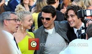 Adam Shankman, Diego Boneta, Julianne Hough and Tom Cruise