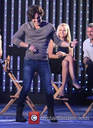 Diego Boneta The cast of new film 'Rock of Ages' have an MTV question and answer session Los Angeles, California...