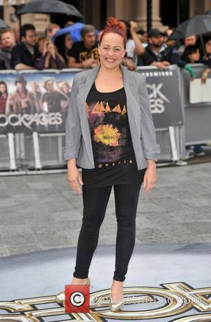 Sarah Cawood Rock of Ages - UK film premiere held at the Odeon Leicester Square - Arrivals. London, England -...