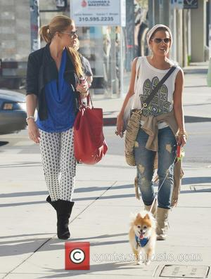 Rocsi Diaz walking her dog with Mary Flaven on Robertson Boulevard  Featuring: Mary Flaven, Rocsi DiazWhere: Los Angeles, California,...