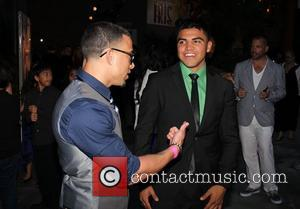 Victor Ortiz  outside Rolling Stone Los Angeles, restaurant and lounge in Hollywood Los Angeles, California - 04.04.12