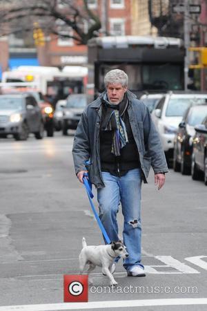 Ron Perlman  walking his dog in Manhattan New York City, USA - 06.01.12