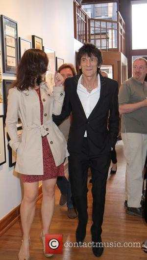 Ekaterina Ivanova, Ronnie Wood Rocker/Artist Ronnie Wood of The Rolling Stones presents his paintings at his, 'Faces, Time and Places'...