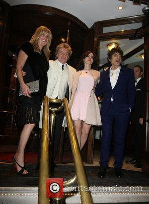 Penny Lancaster, Rod Stewart, Sally Humphrey and Ronnie Wood