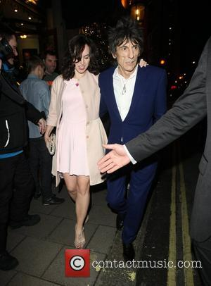 Sally Humphrey and Ronnie Wood