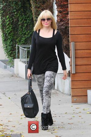 Rose McGowan seen leaving Salon Benjamin sporting blonde hair  Featuring: Rose Macgowan