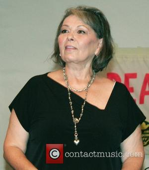 Roseanne Barr  speaks to an audience on her run for the Presidency on the Peace & Freedom Party ticket...