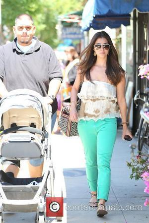 Roselyn Sanchez and her daughter, Sebella Rose Winter visit the Farmer's Market in Studio City.  Los Angeles, California -...