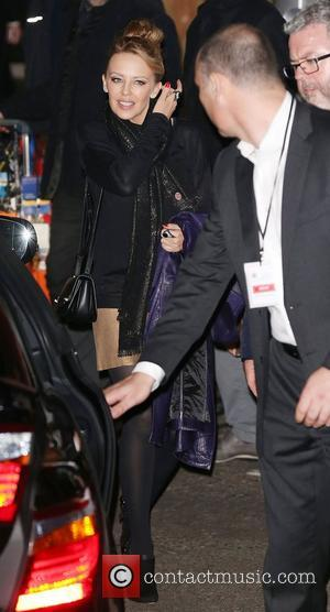 Kylie Minogue,  leaving the Royal Albert Hall after performing at The Royal Variety Performance. London, England - 19.11.12