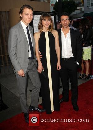 Paul Dano, Zoe Kazan, Chris Messina attending the Los Angeles premiere of Ruby Sparks, held at The Lloyd E. Rigler...
