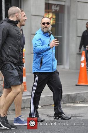 Russell Crowe  takes his bike out for a ride New York City, USA - 24.10.12