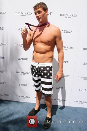 Ryan Lochte swimmer celebrates his Olympic success by hosting a day at Azure Pool inside The Palazzo Resort Hotel &...