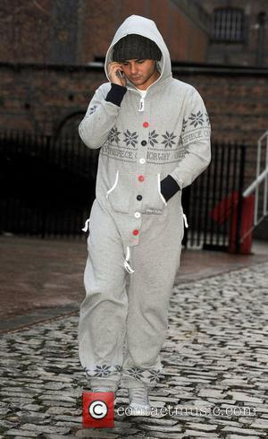 Ryan Thomas wearing a grey OnePiece jumpsuit as he leaves the Granada Studios  Manchester, England - 16.12.11