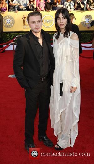 Michael Pitt (left) and Jamie Bochert,  at the 18th Annual Screen Actors Guild Awards (SAG Awards) held at The...