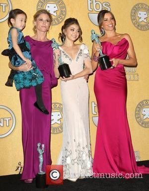 Aubrey Anderson-Emmons, Julie Bowen, Sarah Hyland and Sofia Vergara 18th Annual Screen Actors Guild Awards (SAG Awards) held at The...