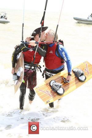Sir Richard Branson Sets New Kite Surfing Record