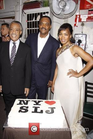 Rev. Al Sharpton, Samuel L. Jackson and Angela Bassett  Samuel L. Jackson's 63rd birthday celebration held after the matinee...