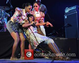 Santigold real name Santi White performs as the opening act for The Red Hot Chili Peppers at BankAtlantic Center Sunrise,...