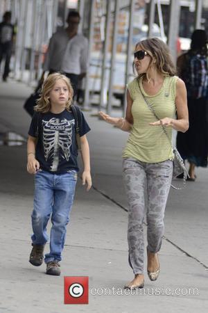 Sarah Jessica Parker  walks with her son James Wilkie Broderick on his first day of school New York City,...