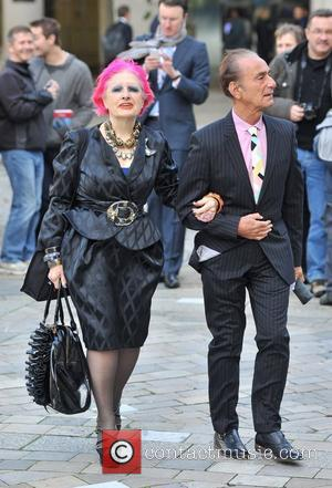 Zandra Rhodes Memorial Service for Vidal Sassoon held at St. Paul's Cathedral - Arrivals. London, England - 12.10.12
