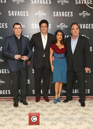 John Travolta, Salma Hayek, Benicio Del Toro and Oliver Stone
