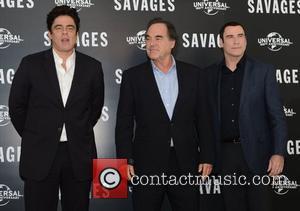 Benicio Del Toro, Oliver Stone, John Travolta, Savages, Mandarin Oriental, London and England