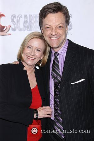 Eve Plumb and Jim Carusoat the premiere of 'Scandalous The Musical' at the Neil Simon Theatre - Arrivals. New York...