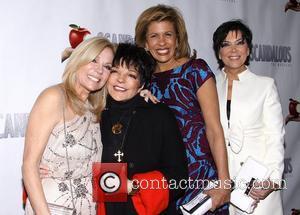 Kathie Lee Gifford, Liza Minnelli, Hoda Kotb and Kris Jennerat the premiere of 'Scandalous The Musical' at the Neil Simon...