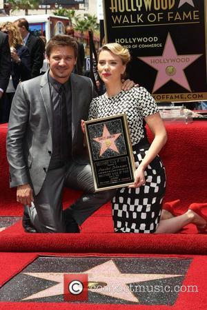 Jeremy Renner, Scarlett Johansson and Star On The Hollywood Walk Of Fame