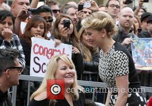Scarlett Johansson and Star On The Hollywood Walk Of Fame