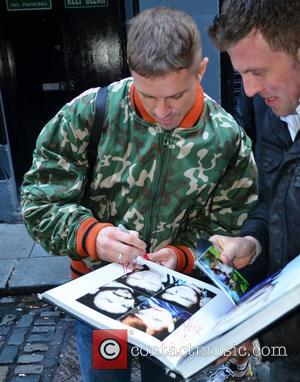 Jake Shears The Scissor Sisters at the stage door of The Olympia Theatre ahead of their concert tonight  Dublin,...