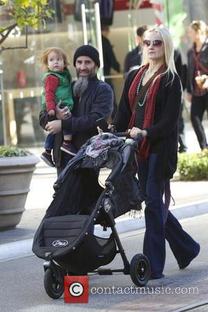 Scott Ian Anthrax guitarist Scott Ian and his family out and about at The Grove  Featuring: Scott Ian Where:...