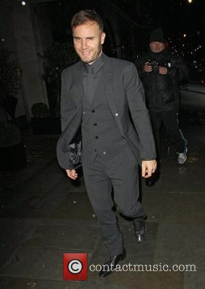 Gary Barlow leaving Scotts restaurant after dining with David Walliams and Lara Stone London, England - 13.12.11