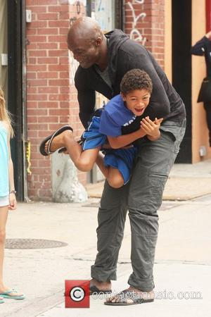 Henry Samuel and his father Seal Singer Seal picks up his children from his estranged wife's apartment New York City,...