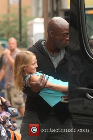 Leni Klum and Seal Singer Seal picks up his children from his estranged wife's apartment New York City, USA -...