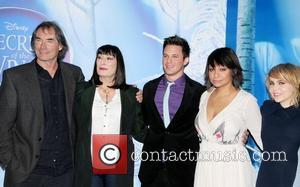 Timothy Dalton, Anjelica Huston, Matt Lanter, Raven Symore and Mea Whitman attends the premiere of Disney's