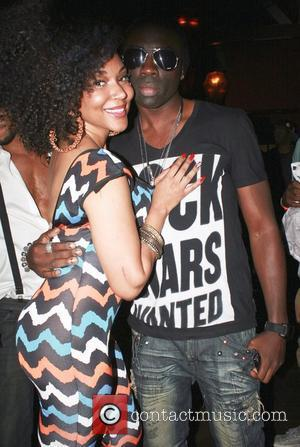 Lyrica Anderson and Sam Sarpong at Secret Society Sundays in Nola's Cafe Los Angeles, California - 05.08.12