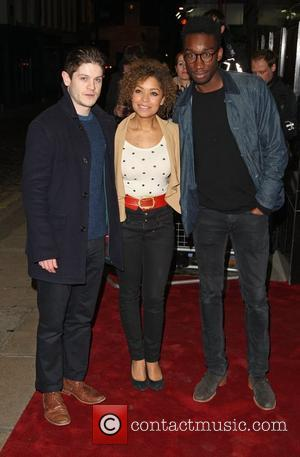 Iwan Rheon, Antonia Thomas and Nathan Stewart-Jarrett VIP Gala screening of Shame- Arrivals held at the Curzon Mayfair London, England...