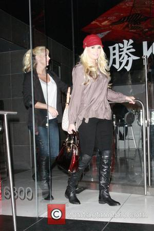 Kristina and Karissa Shannon outside Katsuya restaurant Los Angeles, California - 20.12.11