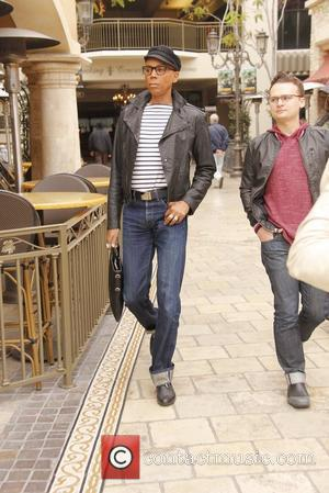 Drag Queen and television personality RuPaul (real name Andre Charles) at The Grove to film a segment for the show,...