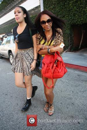Eddie Murphy's daughter, Shayne Murphy  exits Beverly Hills Nail Design with a friend. Los Angeles, California - 20.06.12