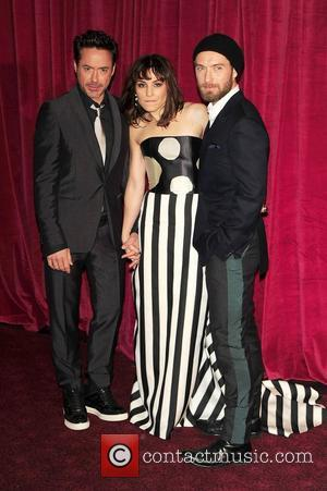 Robert Downey Jr, Noomi Rapace and Jude Law  'Sherlock Holmes: A Game of Shadows' UK film premiere held at...