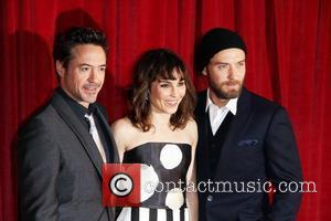 Robert Downey Jr, Jude Law and Noomi Rapace
