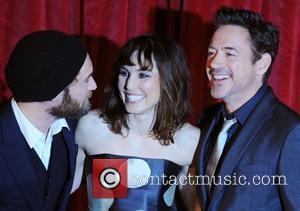 Robert Downey Jr., Noomi Rapace and Jude Law  'Sherlock Holmes: A Game of Shadows' UK film premiere held at...